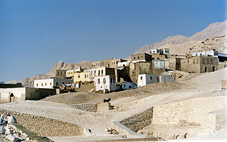Kurna Place in Luxor Governorate, Egypt