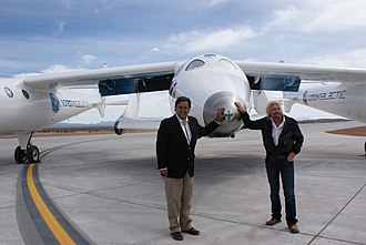 Bill Richardson - Gov. Richardson and Richard Branson with SpaceShipTwo, 2010