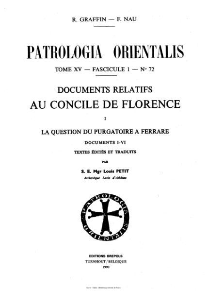 File:Graffin - Nau - Patrologia orientalis - Documents relatifs au Concile de Florence.djvu