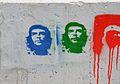 Graffiti del Che Guevara, carrer de Xile de València.JPG