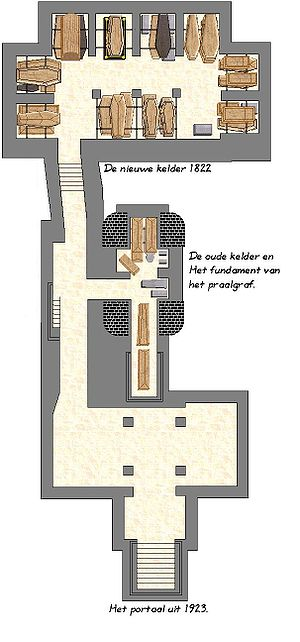 Nieuwe Kerk (Delft) - Plan of the royal crypt
