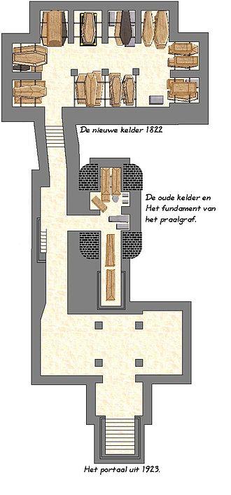 Nieuwe Kerk (Delft) - Plan of the royal crypt