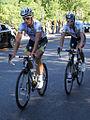 Grand Prix Cycliste de Montréal 2011, Gatis Smukulis and Patrick Gretsch (6142358776).jpg