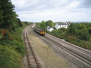 Hereford, Ross and Gloucester Railway - Though Grange Court Station was closed with the rest of the line in 1964, the tracks leading onto the Gloucester to Newport Line still remain.