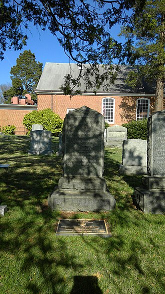 William W. Mackall - Mackall's grave in Fairfax County, Virginia
