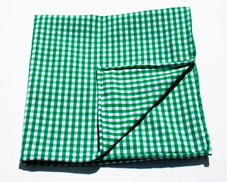 Check (pattern) - Cloth of green gingham in check pattern