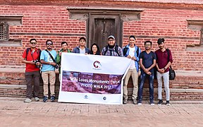 Group photo during Wiki Loves Monuments in Nepal 2017.jpg