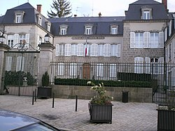 Prefecture building of the Creuse department, in Guéret