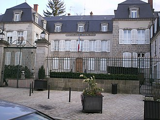 Creuse - Prefecture building of the Creuse department, in Guéret