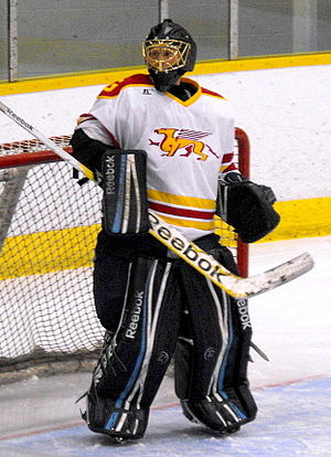 Guelph Gryphons - Men's Gryphons goalie during 2012-13 hockey season.