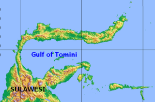 Gulf of Tomini bight in Indonesia