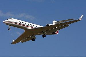 Gulfstream Aerospace G-V-SP Gulfstream G550 MEL Vabre.jpg