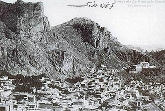 Gümüşhane - Old Gümüşhane city, 1910s Ottoman era postcard