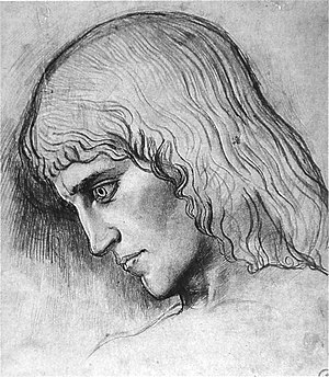 Oedipus and the Sphinx - Study for the head of Oedipus