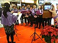 HK Tsuen Wan 荃錦中心 Tsuen Kam Centre mall 中國基督教播道會 EFCC 報佳音 singing song team event Dec-2012.JPG