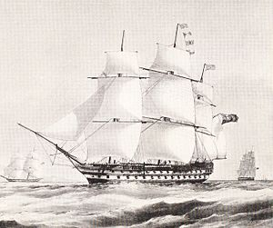 Clements Markham - HMS Collingwood, Markham's first ship
