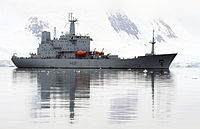HMS Scott at Port Lockroy MOD 45151219