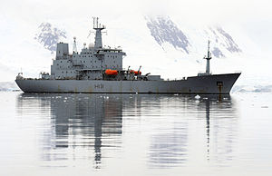 HMS Scott at Port Lockroy MOD 45151219.jpg