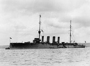 Town-class cruiser (1910) - HMS Weymouth
