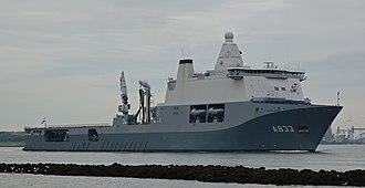 HNLMS Karel Doorman (A833) - Image: HNLMS Karel Doorman, Starboard Bow, 04.09.2017