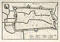 HUA-214020-Plattegrond van de stad Utrecht met directe omgeving met weergave van het stratenplan en de kerkelijke gebouwen met het wapen van de stadMet Duitstali.jpg