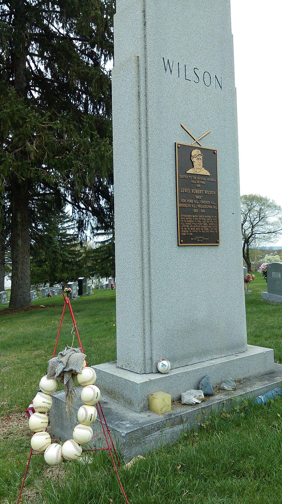 Hack Wilson's gravestone, Martinsburg, WV