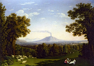 Landscape with the Palace at Caserta with the Vesuvius