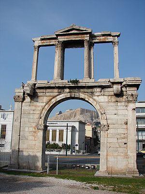 Vista del Arco de Adriano