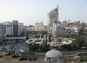Cities designated by government ordinance of Japan - Image: Hamamatsu station cityscape in 2010