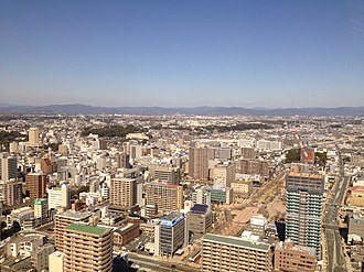 Hamamatsu - A bird's-eye view of downtown Hamamatsu from the tallest building (Act Tower)