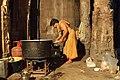 Hampi, India, Night time preparations in Virupaksha Temple.jpg