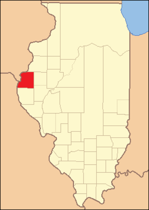 Hancock County, Illinois - Hancock County at the time of its creation in 1825