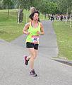 Hardloopster vechtend naar eind Ladiesrun 2015.jpg