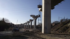 Diabolo project - Viaduct near Haren, some of the last major works needed for line 25N