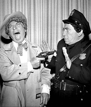 "Harpo Marx - Harpo and Chico Marx in ""The Incredible Jewelry Robbery"" (1959)"