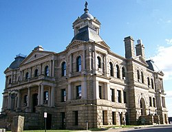 The Harrison County Courthouse in Cadiz, built in 1894, is listed on the National Register of Historic Places