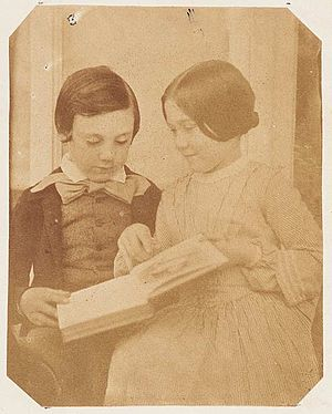 Amy Dillwyn - Amy Dillwyn and her brother Harry, photographed by Mary Dillwyn.