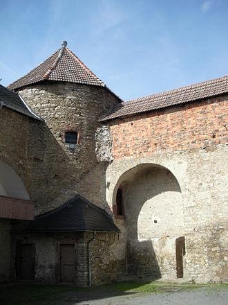 Harzgerode - Harzgerode Castle, courtyard