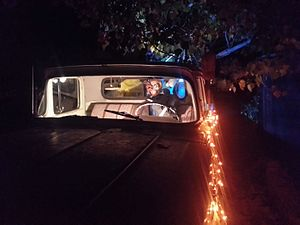 """Phantom vehicle - A """"haunted truck"""" at a Halloween event"""