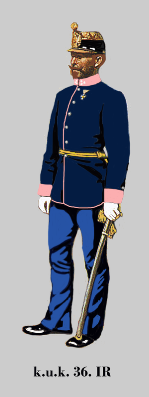 Imperial and Royal Infantry - Captain of 36th k.u.k. Infantry in parade dress