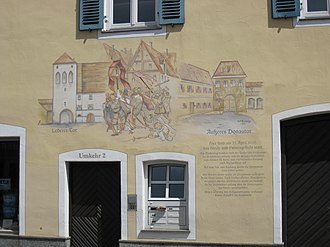 Catholic League (German) - Mural in Donauwörth in memory of the Kreuz- und Fahnengefecht