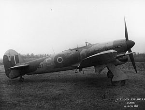 No. 4 Squadron RAF - Hawker Typhoon FR IB, number EK427; this aircraft was flown by 4 Squadron (March 1945)