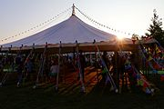 Tent at the Hay Festival