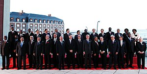 Head of States at the Americas Summit in Mar del Plata Argentina 2005.jpg