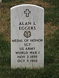 Headstone of Alan Eggers