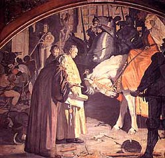 Hedwig, Abbess of Quedlinburg - Submission of the town of Quedlinburg to Princess-Abbess Hedwig