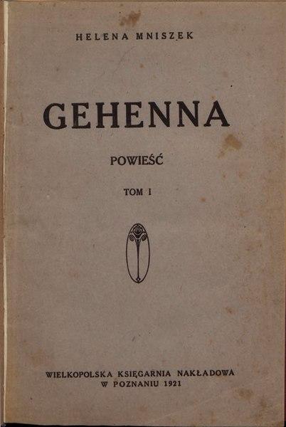 File:Helena Mniszek - Gehenna T. 1.djvu