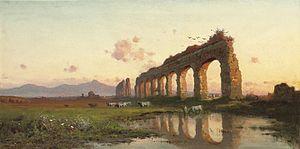 Henryk Cieszkowski - Image: Henryk Cieszkowski Pejzaz wloski z ruinami