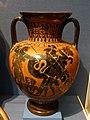 Herakles fighting Geryon, neck amphora, Attic Greek, 550-530 BC, painted clay - Portland Art Museum - Portland, Oregon - DSC08968.jpg