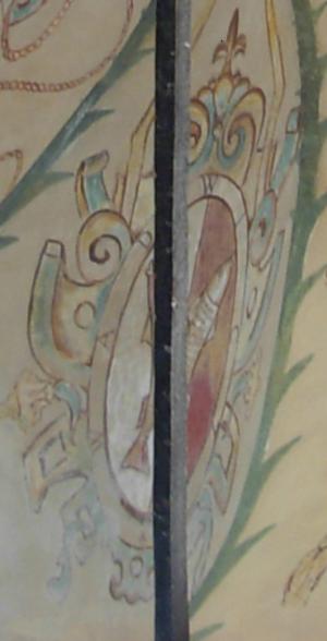 Wadwicz coat of arms - Wawdicz coat of arms in Baranow-Sandomierski castle